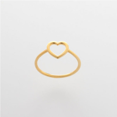 Heart Wire Ring - Gold no 1