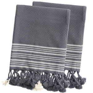 Truva Hand Towel set grey natural