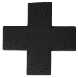 Zakkia Concrete Cross Trivet_Black