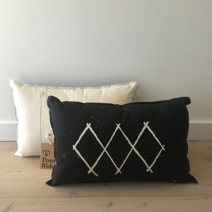 black pony rider cushion set