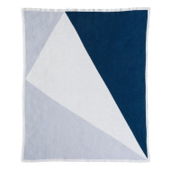 Baby Blanket - Illusio Blue open
