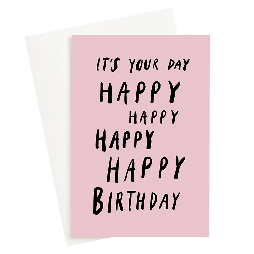 It's Your Birthday Pink Card